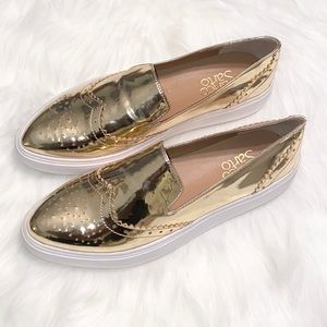 """Franco Sarto """"Nelson"""" Women's Loafers Size 6M Gold"""